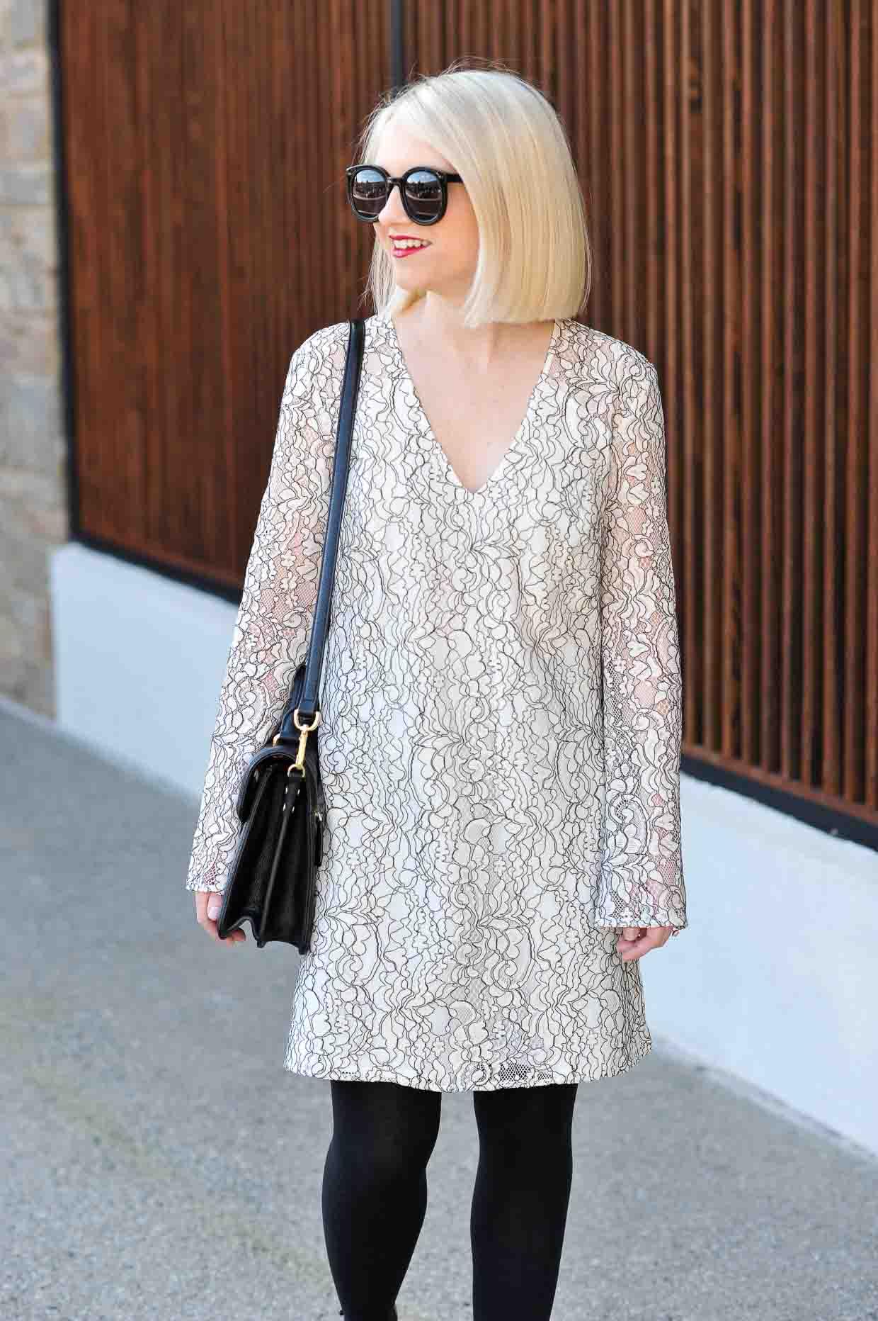 Wayf Lace Bell Sleeve Shift Dress Under 100 Poor Little