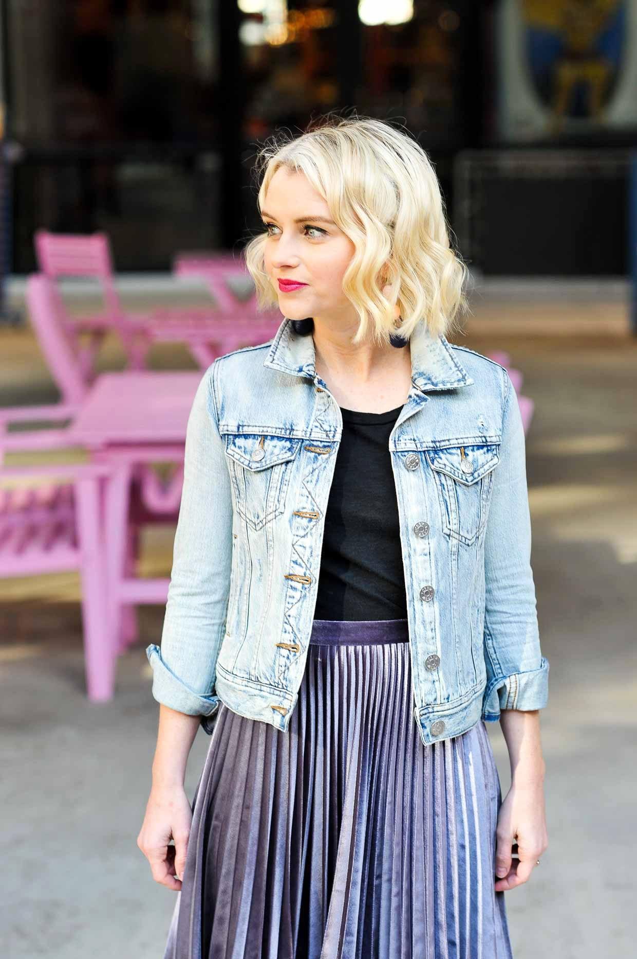 e1413084dd Topshop Metallic Pleated Velvet Midi Skirt - Poor Little It Girl