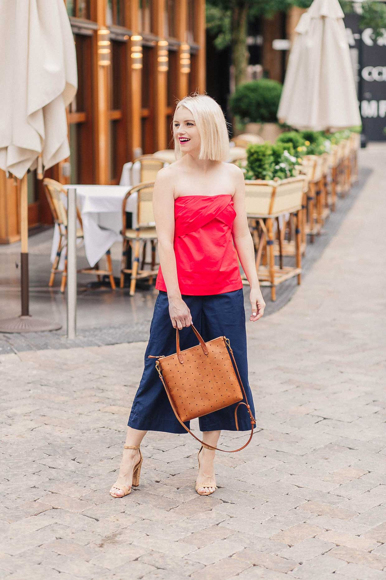 970d0b37c7f How To Style A Red Strapless Top For Summer - Poor Little It Girl