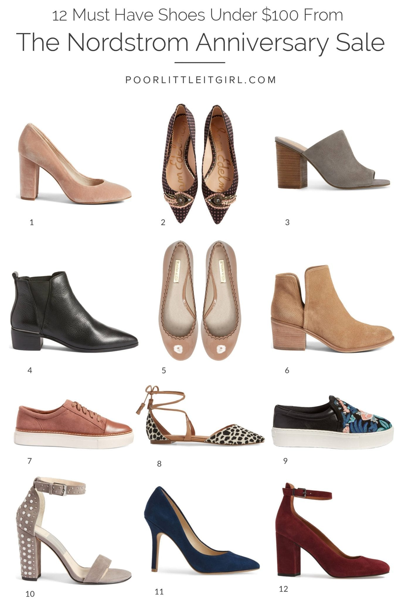 06b9d76c6b 12 Nordstrom Anniversary Sale Shoes Under $100 - Poor Little It Girl