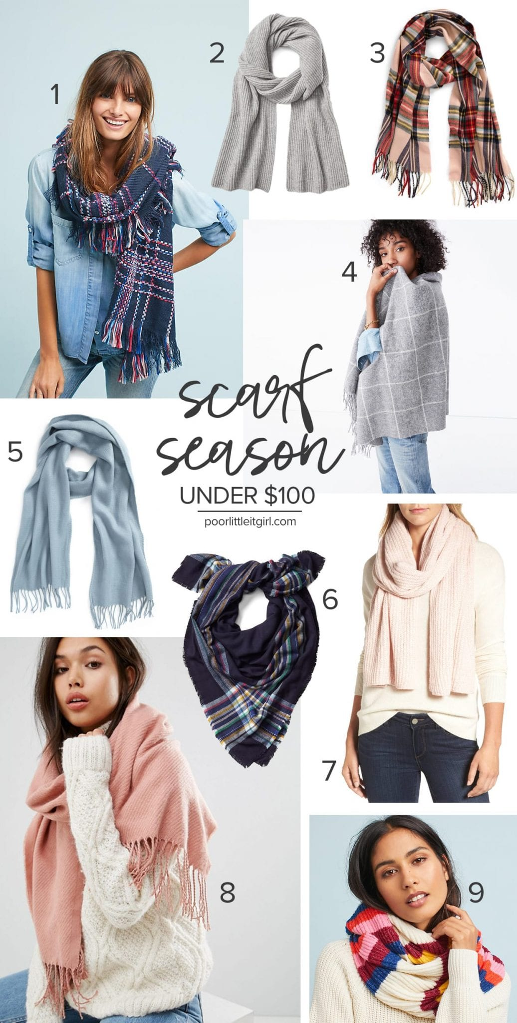 fb7864cce4a Scarf Season - Best Scarves Under  100 - Poor Little It Girl