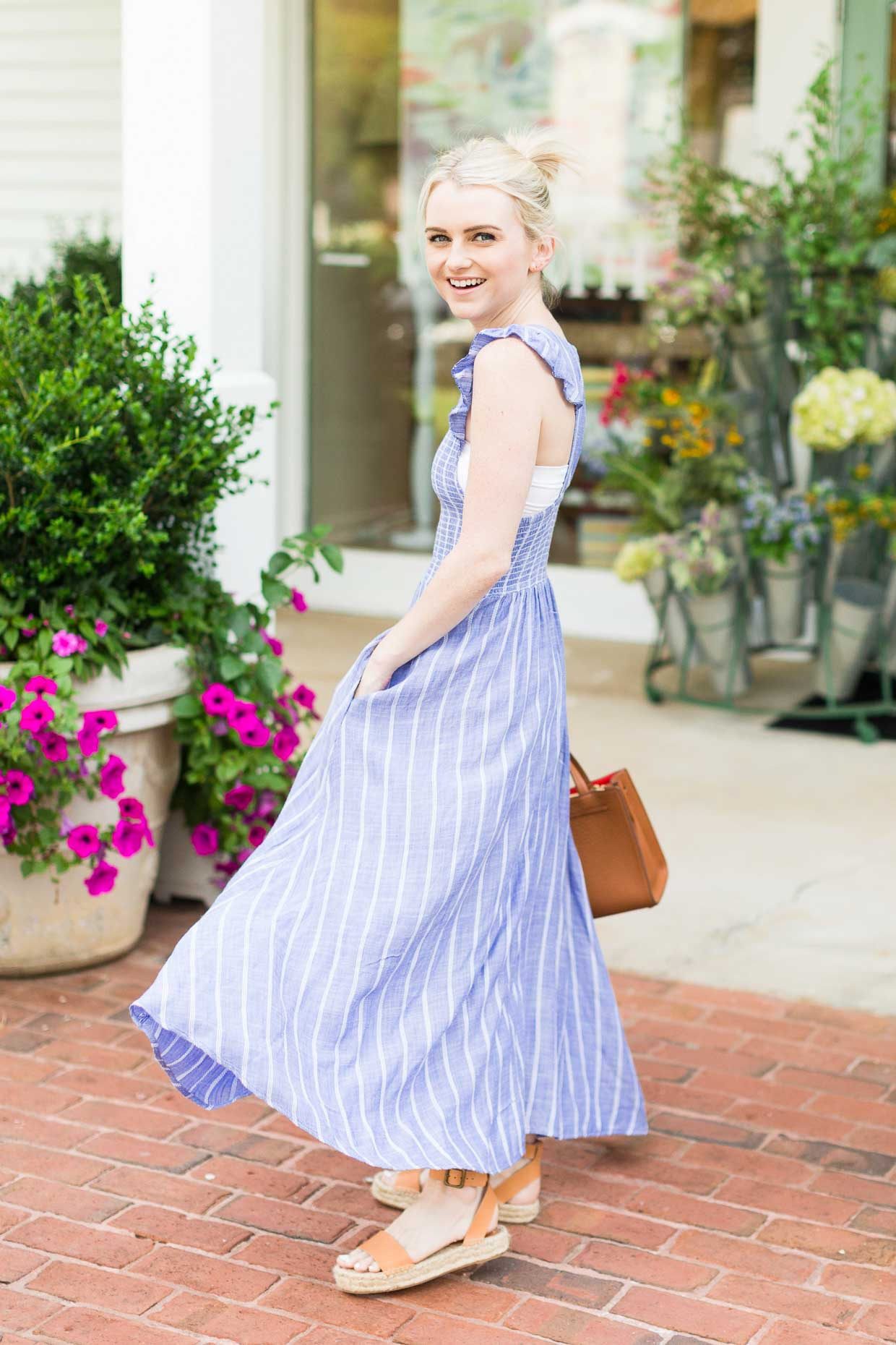 nice cheap shopping discount Free People Butterflies Chambray Midi Dress - Poor Little It Girl