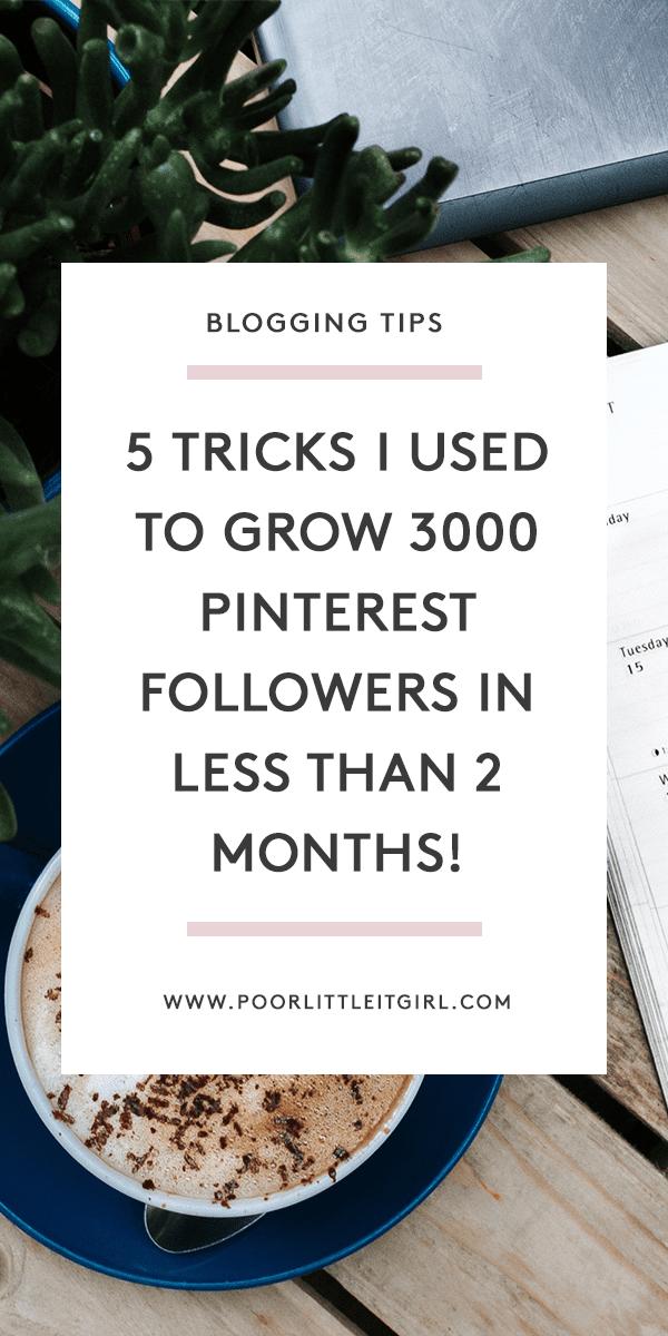 d90d7b8cb4fa1f How I Grew 3000 Pinterest Followers In Less Than 2 Months - Poor Little It  Girl