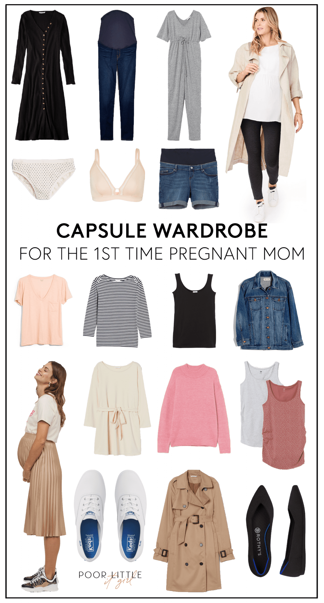 Maternity Capsule Wardrobe For The First Time Mom Poor Little It Girl